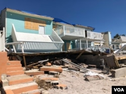 Scenes of devastation in Mexico Beach, Florida in the aftermath for Hurricane Michael.