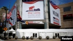 The Quicken Loans Arena is seen as setup continues in advance of the Republican National Convention in Cleveland, Ohio, July 16, 2016.