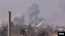 Pasukan koalisi dan Lasykar Demokratik Suriah (SDF) dalam operasi menyasar posisi kelompok militan ISIS di Suriah timur.