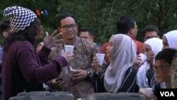 Suasana buka puasa di Wisma Indonesia