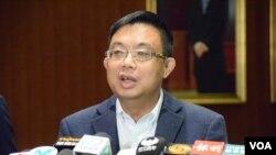 香港民主黨立法會議員涂謹申。(美國之音湯惠芸攝)