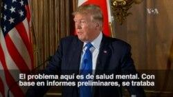 """Trump: Tiroteo en Texas """"es un problema de salud mental"""""""