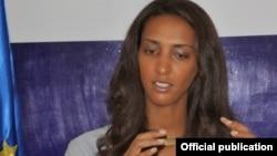 Janira Hopffer Almada, presidente do PAICV