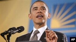 지난 5월 12일 히스패닉 정책 회의에서 연설하는 바락 오바마 미 대통령