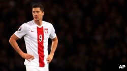 Le capitaine polonais Robert Lewandowski