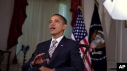 US President Barack Obama records the weekly address, 08 Oct 2010