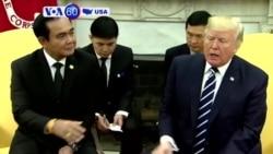 VOA60 America - President Donald Trump Visits Puerto Rico