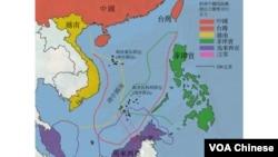 南中國海主權爭議圖
