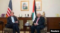 Ngoại trưởng Hoa Kỳ John Kerry và Tổng thống Palestine Mahmoud Abbas hội đàm tại Amman, 28/6/13