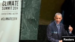 Američki predsednik Barak Obama govori na Samitu o klimatskim promenama u UN-u, Njujork 23. septembar 2014.