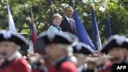 Ангела Меркель и Барак Обама. Белый дом. 7 июня 2011 года