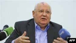 Bivši sovjetski lider Mihail Gorbačov tokom predavanja na Medjunarodnom univerzitetu u Moskvi, 9. februar 2012.