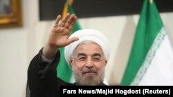 Le président iranien Hassan Rohani à Téhéran, le 17 juin 2013.