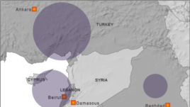 Click to enlarge map of Syria regional refugee response