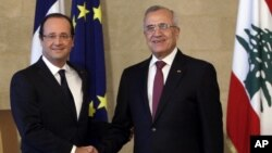Франсуа Олланд и Мишель Сулейман