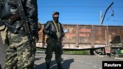 Озброєний проросійський бойовик