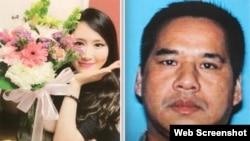 被控谋杀的李威廉(右)和被害人王丽君。(网路截图)