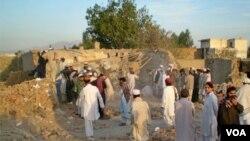 Pesawat tak berawak AS menghancurkan sebuah rumah di Miranshah, Waziristan utara (foto: dok.).