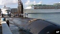 Атомная подводная лодка «Майами», на которой произошел пожар (архивное фото)