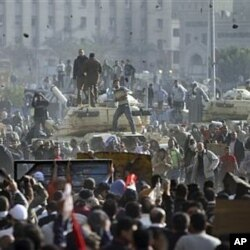 Les manifestants anti-Moubarak au Caire