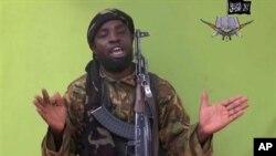 나이지리아 테러단체 보코하람의 우두머리로 알려진 셰카우. 보코하람이 인터넷에 올린 영상 화면이다. (자료사진)