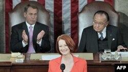 Голова уряду Австралії Джуліа Гіллард у Конгресі США. Березень 2011.