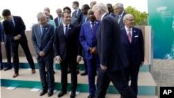 Tổng thống Trump và các lãnh đạo G7 tại thị trấn Taormina, Siciliy, Italy, 27/5/2017