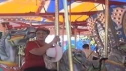 Массовое караоке на ярмарке в Миннесоте