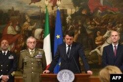 意大利总理伦齐就移民沉船召开记者会