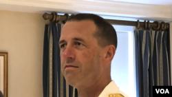 美国海军作战部长理查森上将(Admiral John Richardson) (美国之音黎堡2019年7月2日)