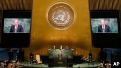 سخنرانی ولادیمیر پوتین رئیس جمهوری روسیه در هفتادمین نشست سالانه مجمع عمومی سازمان ملل متحد در نیویورک - ۶ مهر ۱۳۹۴