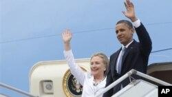 Хиллари Клинтон и Барак Обама (архивное фото)