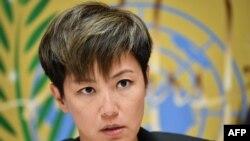 曾於去年在聯合國人權理事會發言反對逃犯修訂條例的香港歌手何韻詩。