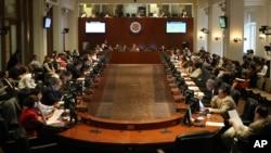 El Consejo Permanente de la OEA aprueba una resolución y descarta una reunión de cancilleres.