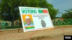 熱門總統競選人前總理易卜拉欣的競選海報