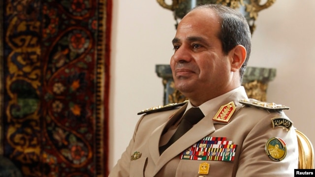 FILE - Egypt's Army Chief General Abdel Fattah el-Sissi.