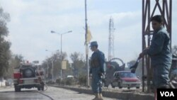 Pasukan Afghanistan siaga di kota Jalalabad, Afghanistan timur.