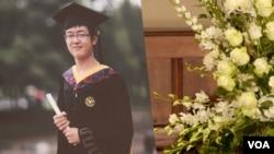 被害人南加大的中国学生纪欣然遗照(美国之音国符拍摄)