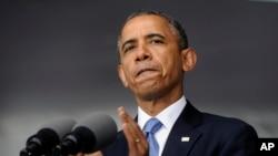 奥巴马总统(5月28日在西点军校演讲照)