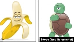 """Two of the """"LoveMojis"""" created by the messaging service Skype. Musician Paul McCartney created the music to go along with these animated characters."""