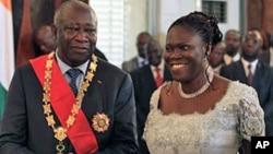 Laurent Gbagbo et son épouse Simone.