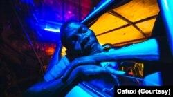 Personagem Matacedo do filme Ar Condicionado, do realizador Fradique, uma produção Geração 80
