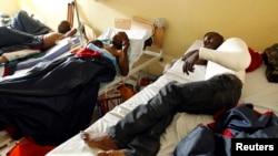 Des blessés dans un hôpital de Goma, dans l'Est de la République démocratique du Congo (RDC)