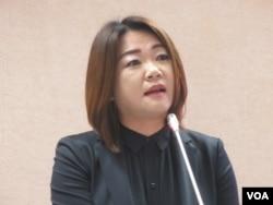 台湾在野党国民党立委马文君(美国之音张永泰拍摄)