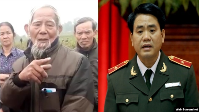 Tin cho hay, ông Chung đã nói với cụ ông Lê Đình Kình rằng bản cam kết không có dấu của chính quyền.