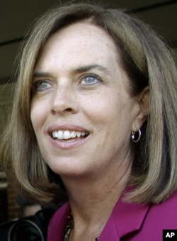 FILE - Rep. Katherine Clark, D-Mass., is pictured in Arlington, Mass., Sept. 8, 2014.