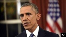 바락 오바마 미국 대통령이 6일 백악관 집무실에서 미국이 처한 테러 위협과 대응 방안에 관한 대국민 연설을 했다.
