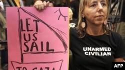 Một nhà hoạt động kêu gọi cho đoàn tàu đến Gaza