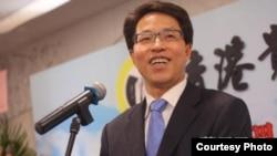香港中聯辦主任張曉明 (蘋果日報照片)