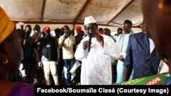 Le chef de file de l'opposition malienne, Soumaïla Cissé, l'un des principaux candidats à la présidentielle du 29 juillet contre le président sortant Ibrahim Boubacar Keïta, en tournée de campagne au Mali, 20 juillet 2018. (Facebook/Soumaïla Cissé)